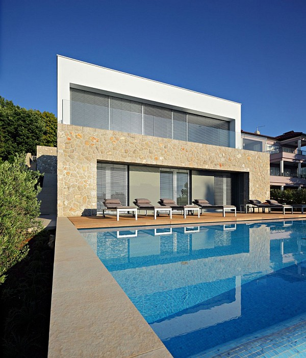 modern villa with pool Contemporary Island Vacation Home at the Adriatic Sea on Krk Island