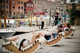 Cardboard Rocking Chaise Lounge Promises Laidback Coolness