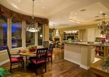 round formal kitchen dining