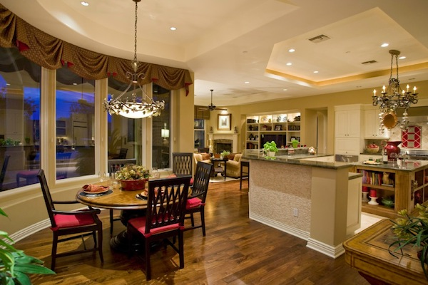 Enhancing your kitchen dining area with a round table for Kitchen dining area decorating ideas