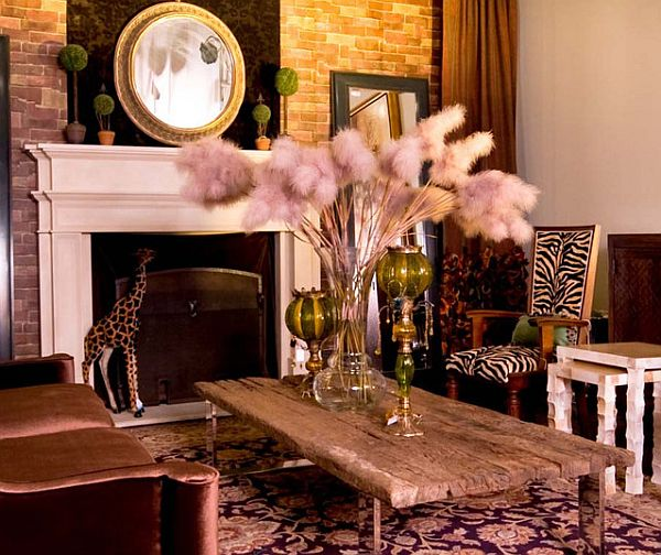 safari lounge decor idea Decorating with a Modern Safari Theme
