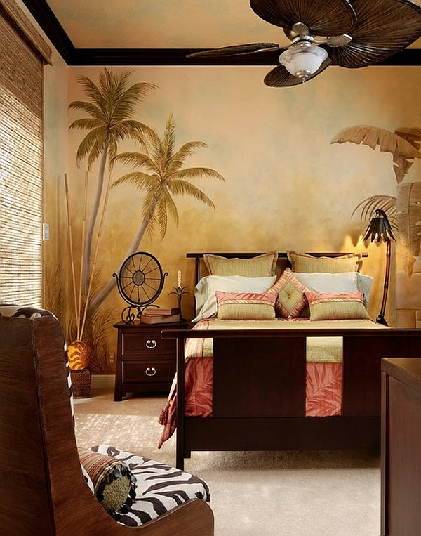 Decorating with a modern safari theme for Themed bedroom wallpaper