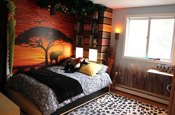 Decorated Room decorating with a modern safari theme