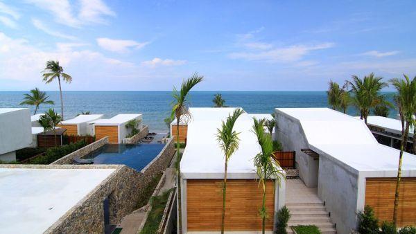 stunning beach villas