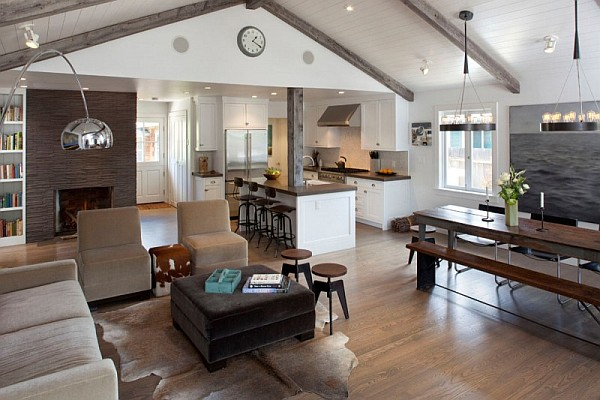 Old bungalow in california gets contemporary makeover - Traditional contemporary living room ...