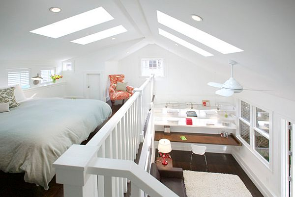 Vaulted Ceiling With Four Large Skylights ...