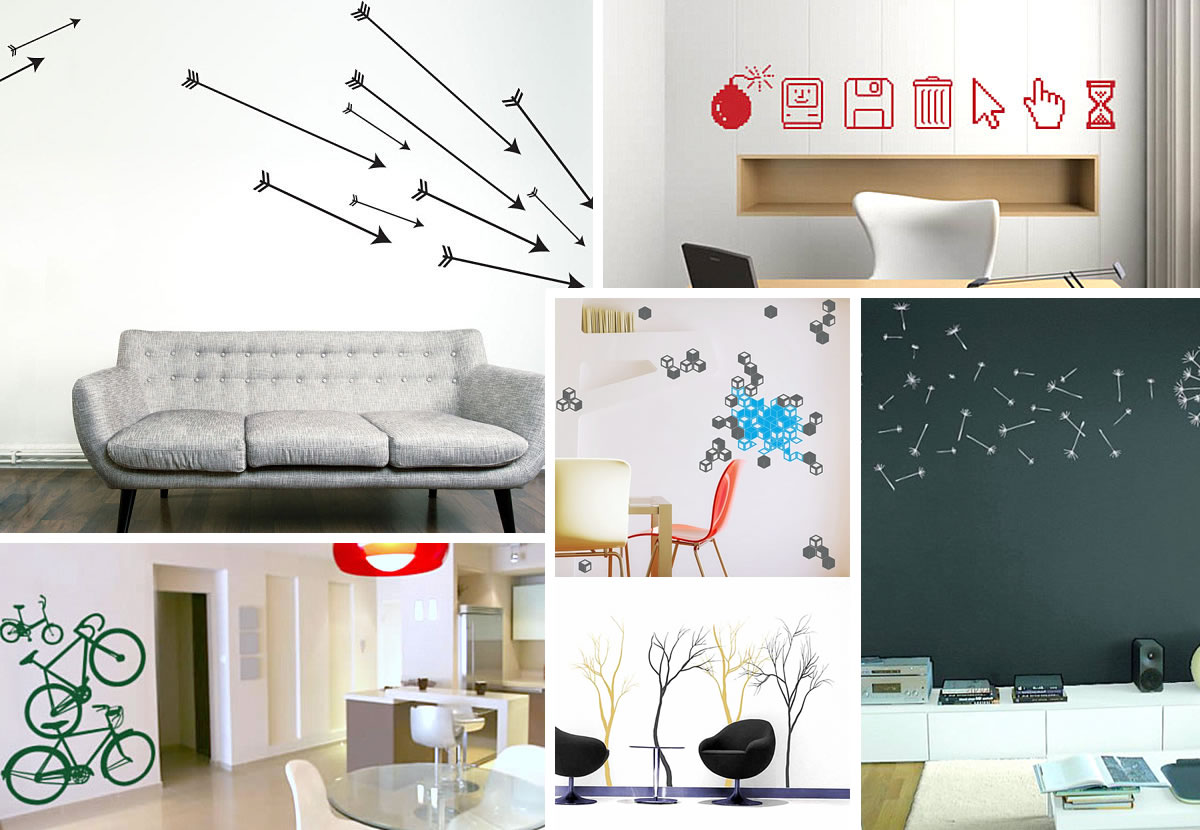 & 12 Wall Art Decals That Celebrate Modern Style