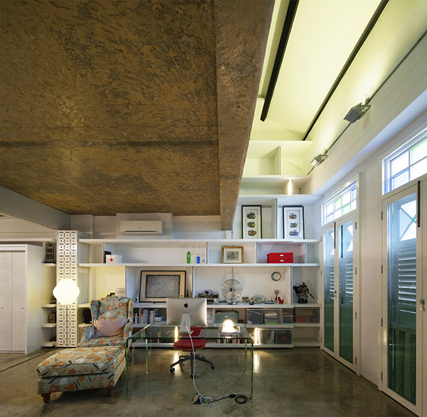 white furniture industrial design loft