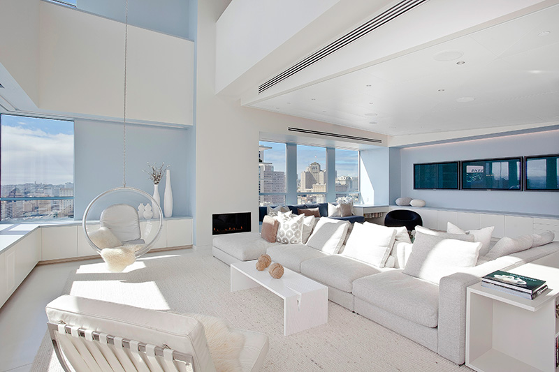 white modern interior design Stylish San Francisco Ritz Carlton Penthouse Could Be Yours for $8 Million