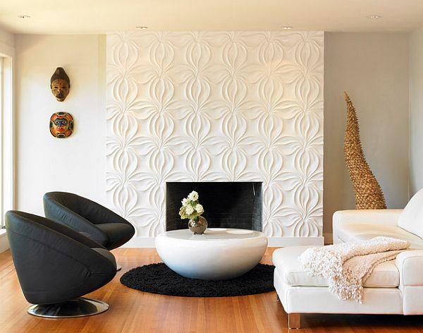 3D wall covers shaped like flowers