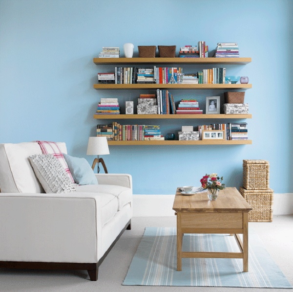 6 incredible examples of shelving in small spaces for Shelving ideas for living room walls