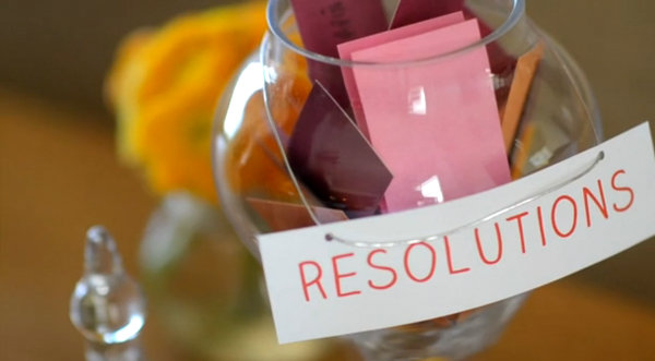 A jar for New Year's resolutions