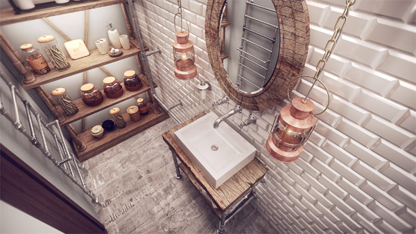 An elegant and almost Steampunk design for the sink