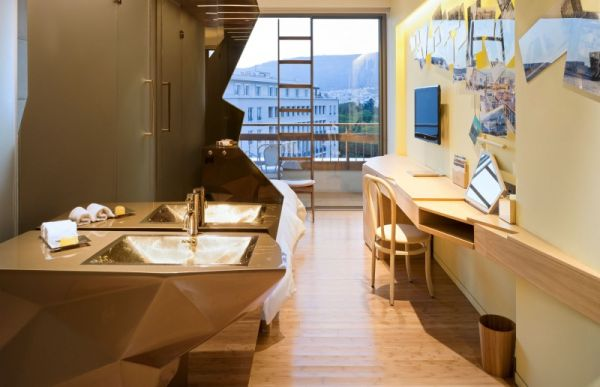 Artistic sink design adds to the structural beauty