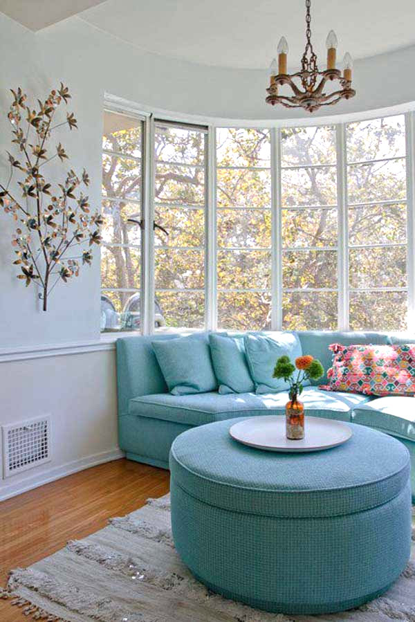 View in gallery Bay window seating arrangement