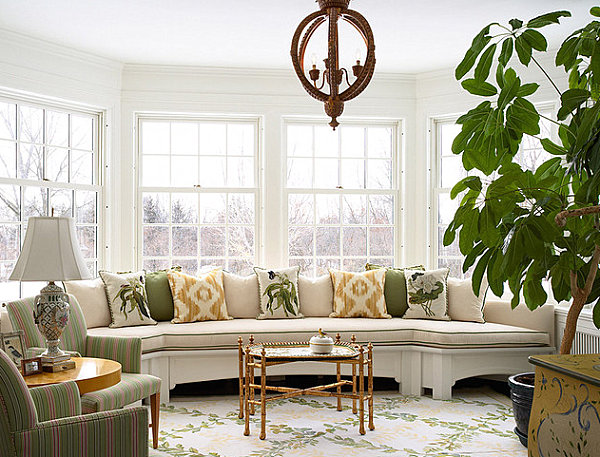 Bay window sofa seating Bay Window Seats for the Modern Home