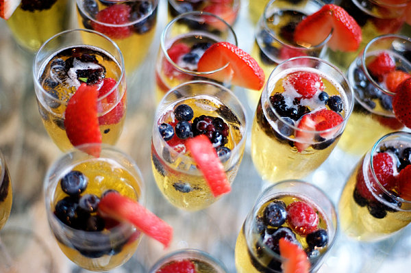 Berries and champagne