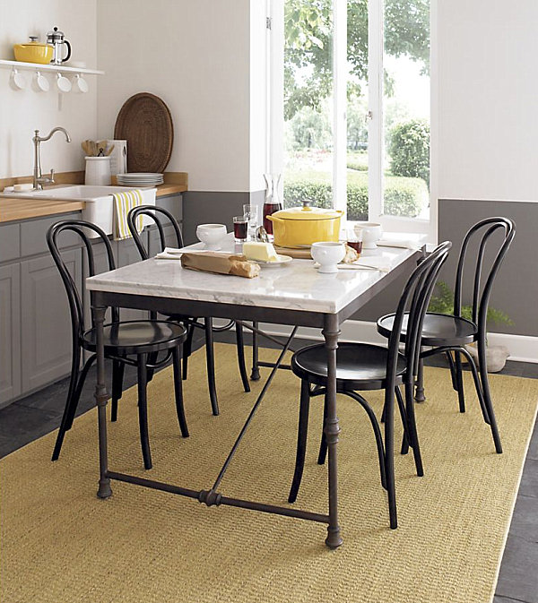 Bistro table and chair set Chic Restaurant Tables and Chairs for the Modern Home