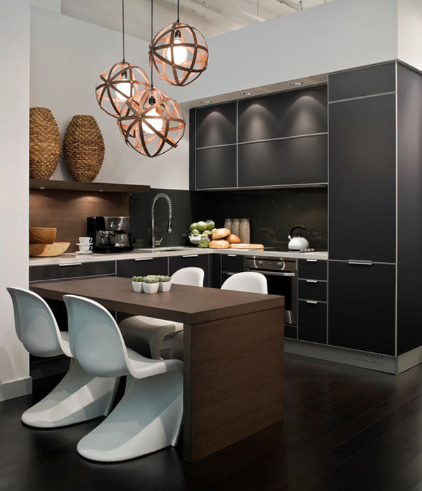 Black kitchen 1 Black Kitchen Furniture and Edgy Details to Inspire You