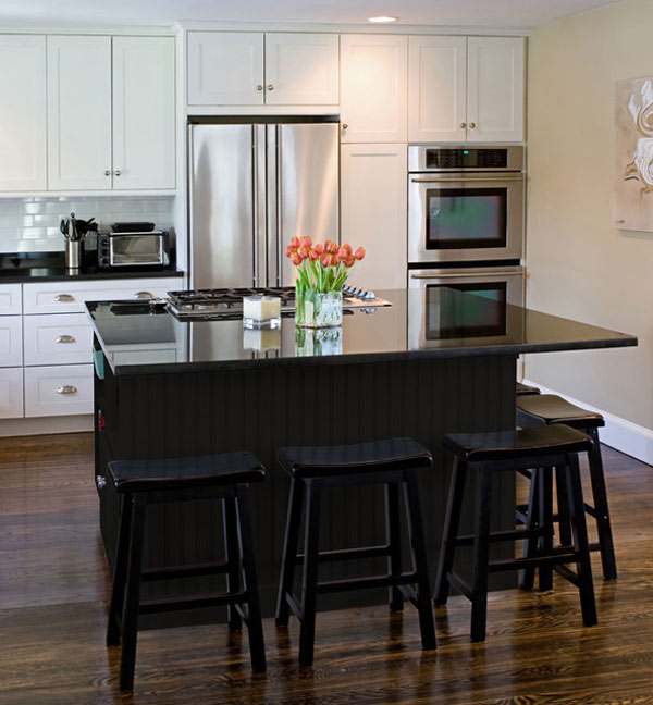 Black Kitchen Island With Breakfast Bar