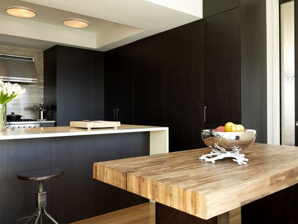 Black Kitchen Furniture and Edgy Details to Inspire You -> Kuchnia Biala Matowa Z Drewnem