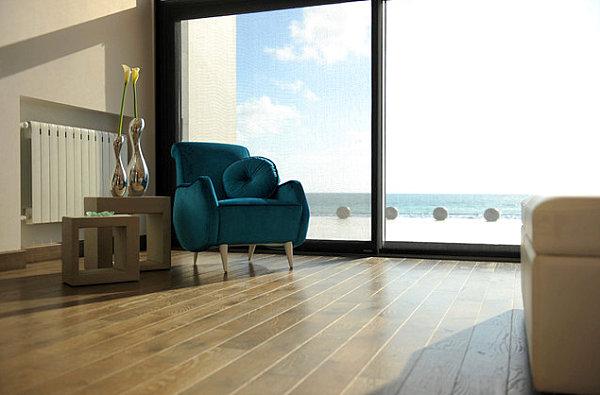 Blue modern armchair