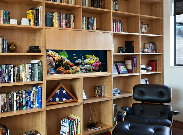 Bookshelf aquarium 10 Cool Fish Tanks for Your Office