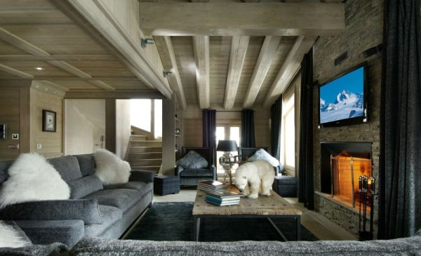 Chalet Black Pearl designed by Philippe Capezzone Luxurious Black Pearl Chalet For Stunning Holidays in the French Alps