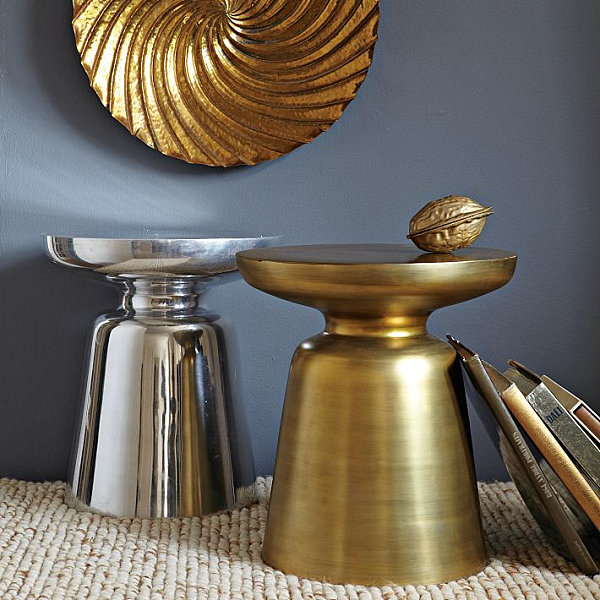 brass and metal furniture. View In Gallery Chic Metal Side Table Brass And Furniture