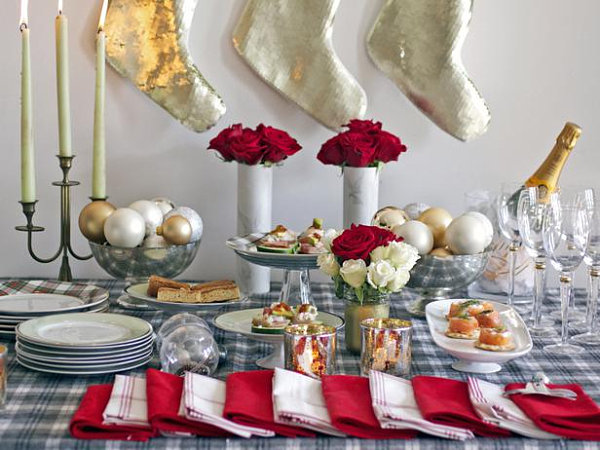 Christmas buffet table The Beautiful Plate: Holiday Food Presentation Tips