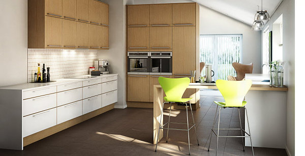 Great View In Gallery Clean Lined Scandinavian Kitchen Part 31