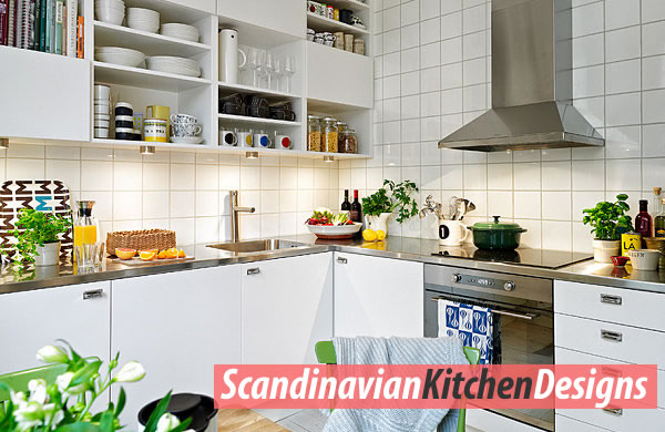 Colorful Scandinavian kitchen ideas