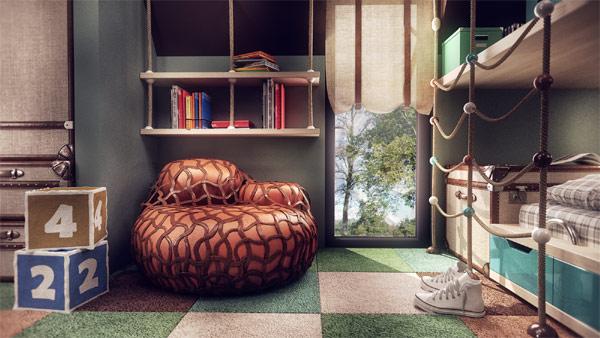 Colorful kids room design by Stoica Mario of Ezzo Design