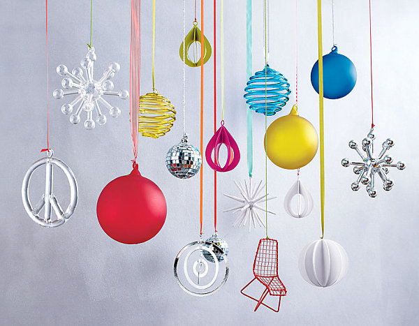 view in gallery colorful modern ornaments - Unique Contemporary Christmas Decorations