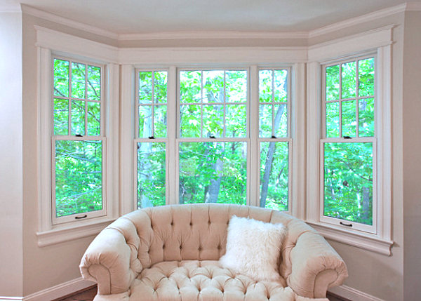 Comfy chair bay window seating