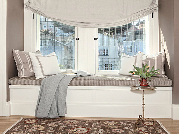 Cozy comfortable window seating