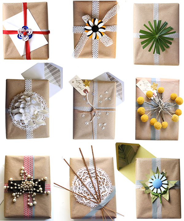 Creative gift wrap ideas decoist for Unique ideas for christmas gifts