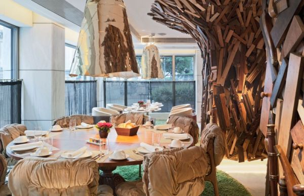 Creativet wooden furniture with traditional Greek touch Olympic Palace Hotel in Athens Gets  New Design by Campana Brothers