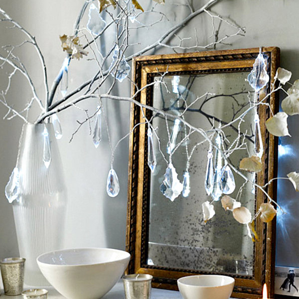 Modern christmas decorating ideas for your interior - Branche decoree pour noel ...