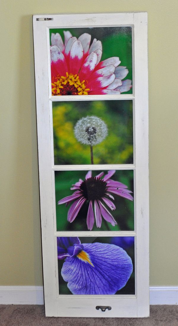DIY art - upcycled windows frames