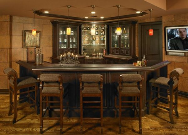 40 inspirational home bar design ideas for a stylish - Home basement bar ideas ...