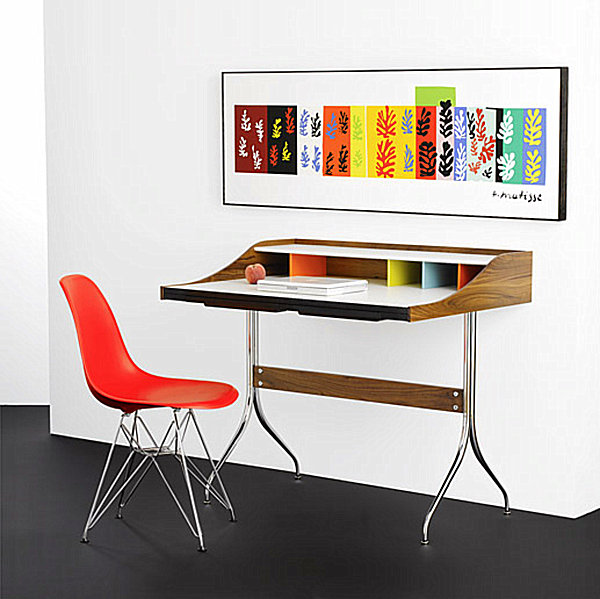 Eames Molded Plastic Chair in a modern office