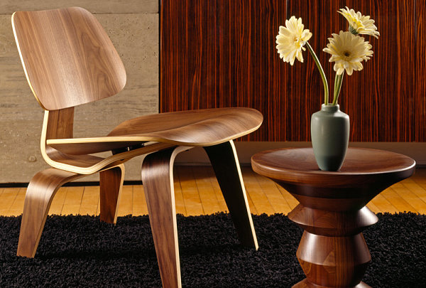 Eames Molded Plywood Chair in a modern space