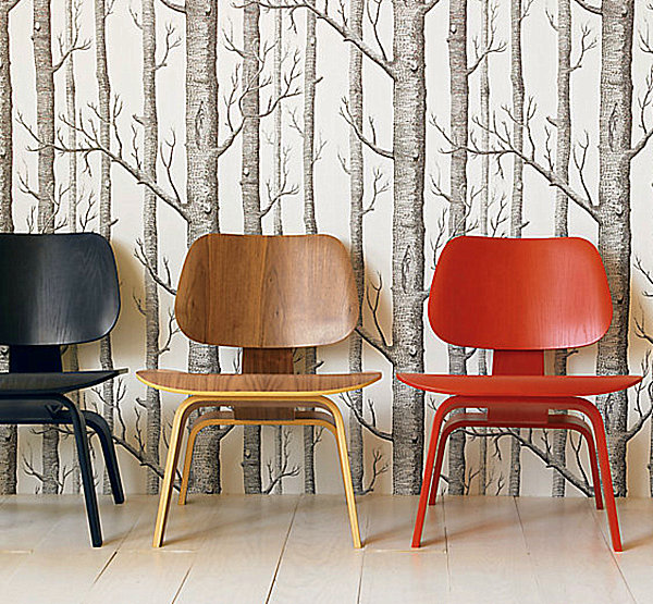 Eames Molded Plywood Chairs in various finishes