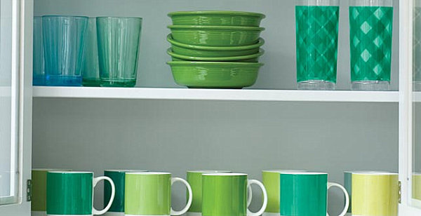 Emerald green glassware