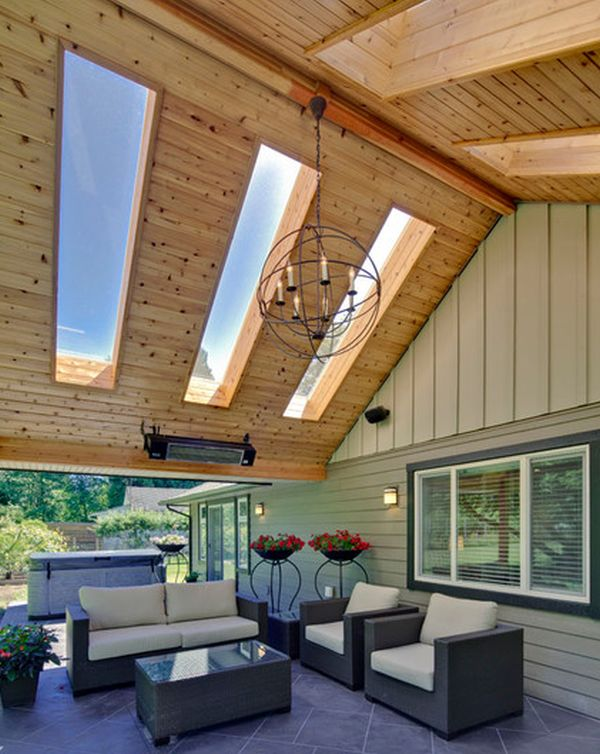 View In Gallery Enigmatic Outdoor Living Area With Large Skylights. By My House  Design ...