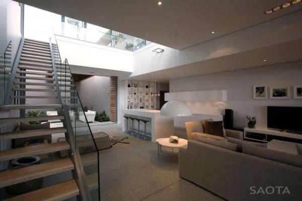 Ergonomic interiors and stylish staicase