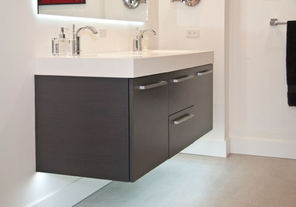 exquisite floating sink cabinet for delectable interiors