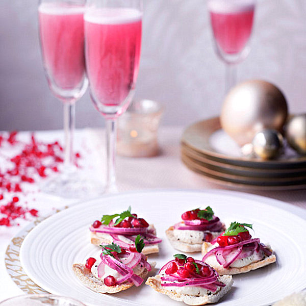 Festive party canapes