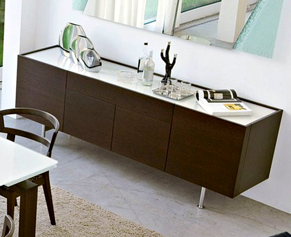 Modern Dark Wood Credenza : 20 modern credenzas with contemporary flair